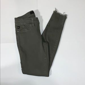 Olive Green Fringed Rock and Republic Jeans